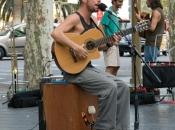 Muzikant op Las Ramblas