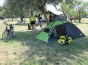 Ons tentje op de eerste camping