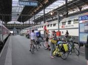 Aankomst op station Basel SBB