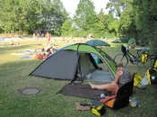 Op de camping in Düren
