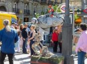 Levend standbeeld op Puerto del Sol