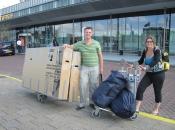 Klaar voor vertrek op Rotterdam Airport