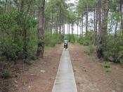 Fietspad door de bossen/duinen richting Carcans Plage