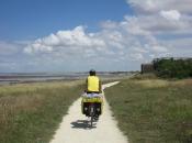 Fietspad onderweg net voorbij La Rochelle