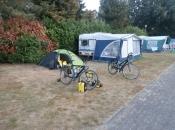 Ons tentje op camping Liesbos net buiten Breda