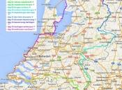kaartje ronde van nederland met legenda