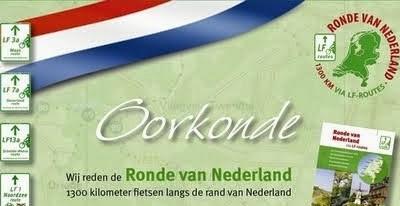Oorkonde Ronde van Nederland