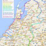 Kaartje van onze ronde van nederland met legenda